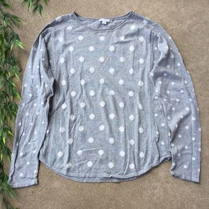 J. Jill Light Weight Polka Dot Sweater